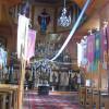 Wnętrze cerkwi greckokatolickiej w Komańczy/Szlak Architektury Drewnianej/Wooden Architecture Trail